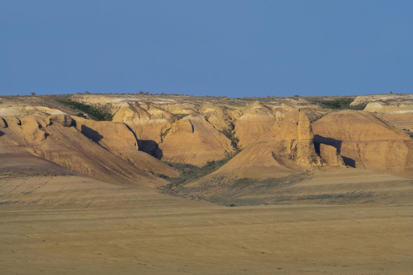 An escarpment in the Irgiz-Turgai reserve, Kazakhstan